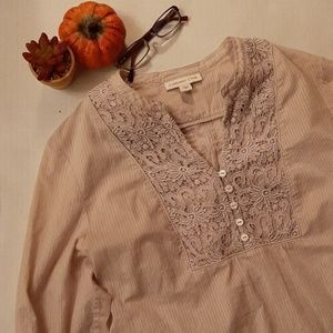 Cream-beige blouse
